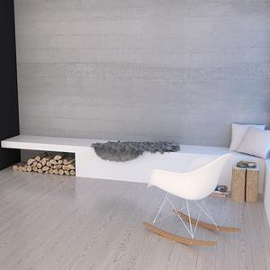 Projekt salonu w domku letniskowym Krynica