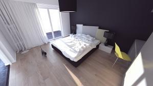 prace Architektów Leste - Projekt sypialni Rzeszów  2011