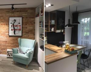 prace Architektów Leste - Mieszkanie w stylu retro Mielec 2017