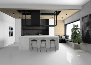 prace Architektów Leste - Projekt kuchni Zielonki pod Krakowem 2018