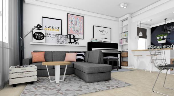 Projekt mieszkania w stylu skandynawskim Stalowa Wola zdjęcie nr