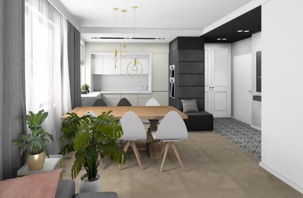 Projekt mieszkania Kraków zdjęcie nr